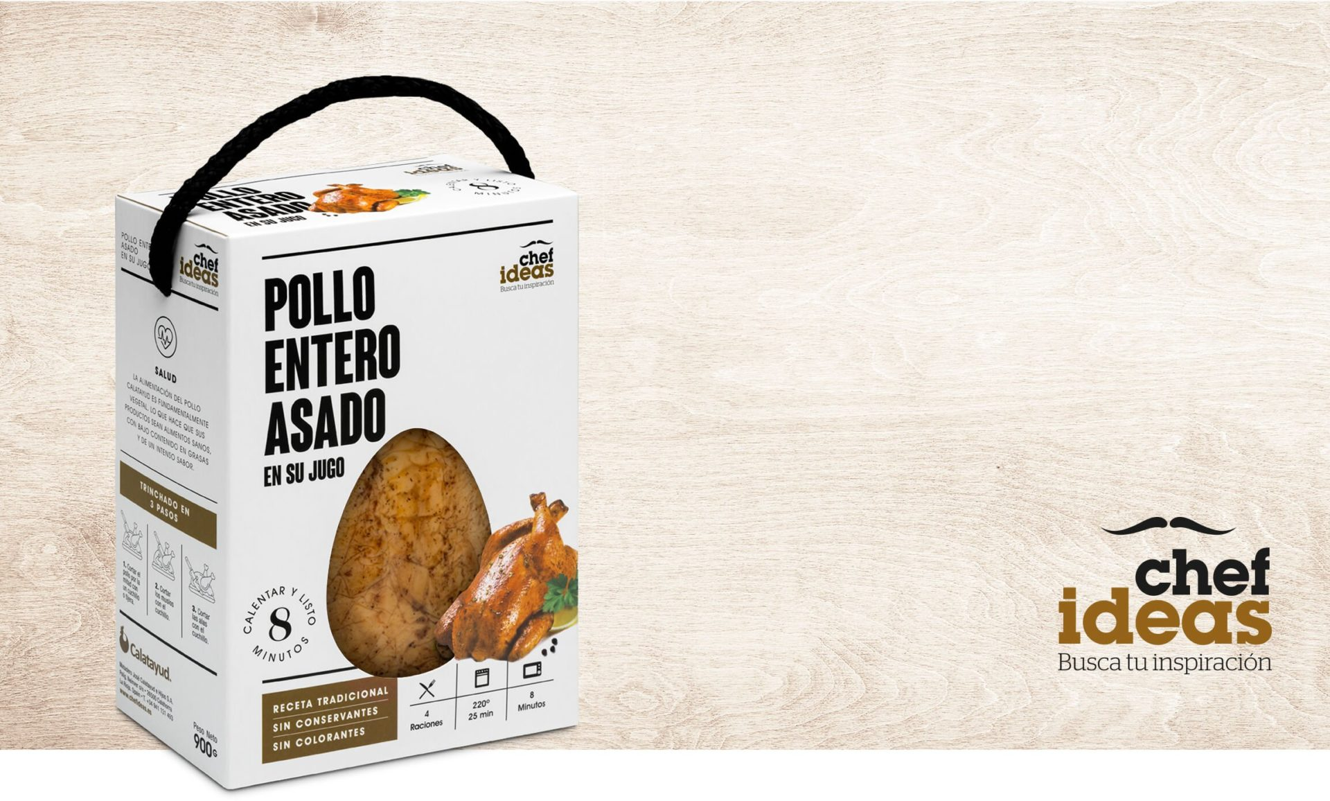 diseño-packaging-asados-chef-ideas-pollo-entero-calentar-y-listo