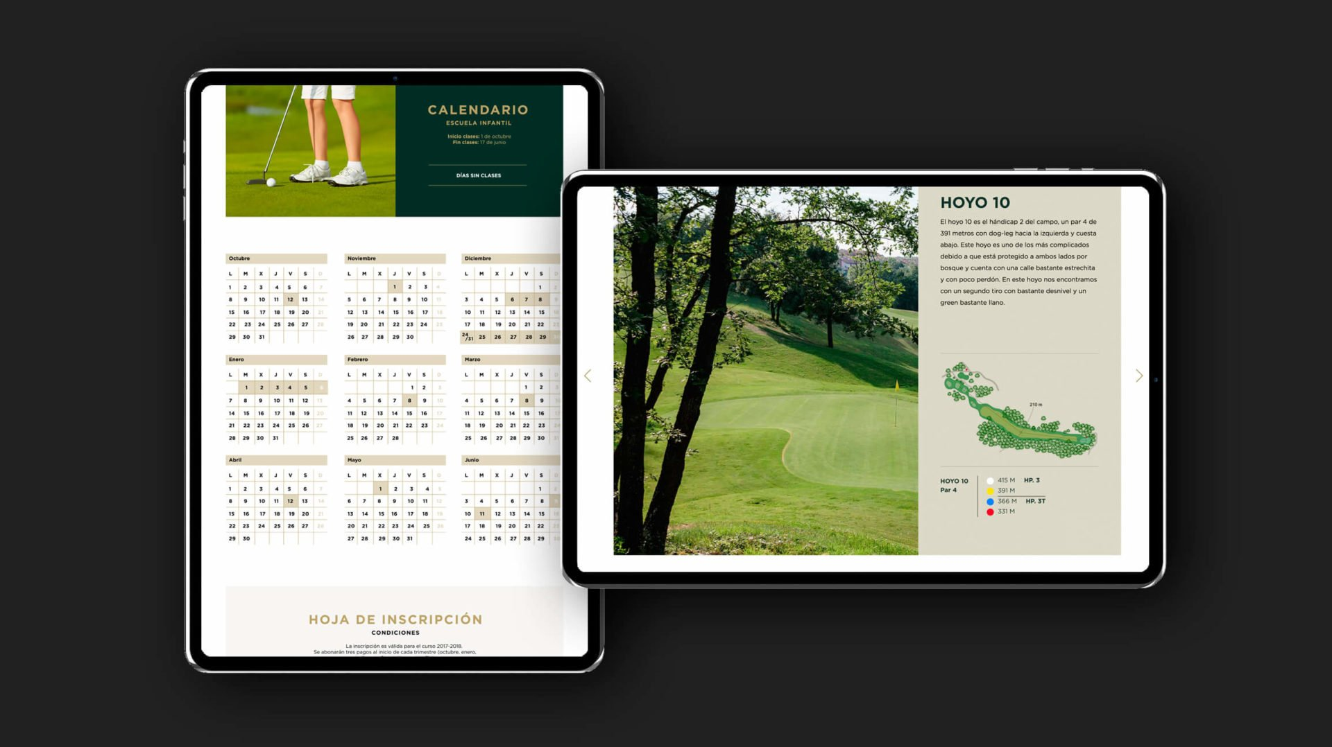 web-digital-responsive-tablet-club-campo-golf-sojuela-logroño-la-rioja